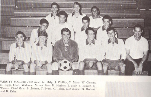 1967 Brandywine High School Varsity Soccer Team