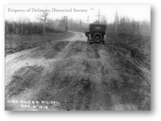 Description: http://www.hsd.org/HistoricReprod/Photographs/Streets_roads/PH_SR_0006_Road%20outside%20Wilm_1918.gif